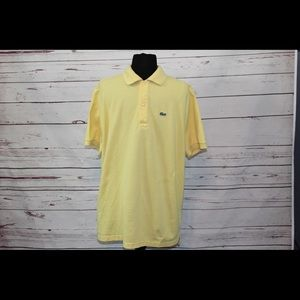 Lacoste Yellow Short Sleeve Croc Polo Golf Shirt